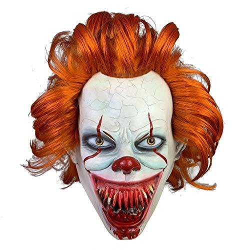 Beängstigend Clown Kostüm - FANGDA Halloween Maske, Horror Clown Maske, Halloween Kostüm Zubehör gruselig beängstigend Dekoration Requisiten,C