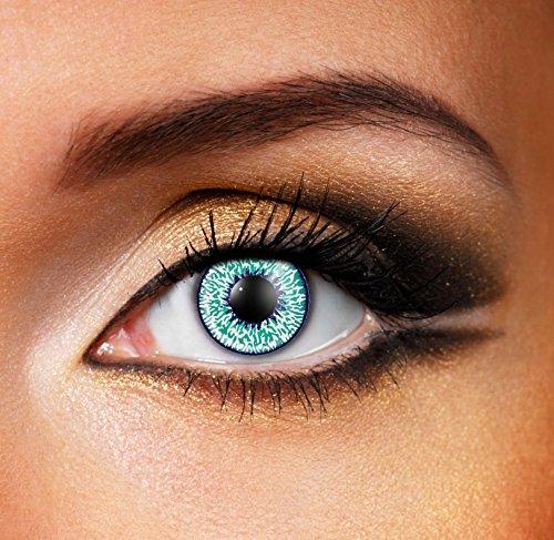 Eyefusion® Farbige Mystic Aqua Kontaklinsen Crazy Ohne Starke Fur Halloween Und Karneval