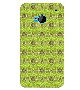 Printvisa Light Green Zig Zag Pattern Back Case Cover for HTC One M7::HTC M7