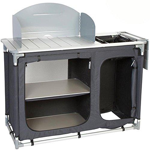 Preisvergleich Produktbild Bocamp Küchenschrank mit Waschbecken Aluminium Vorzeltmöbel: 121cm Camping Kochinsel Camping Schrank Stoffschrank