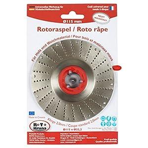 Radial abrasiva 115mm radial amoladora angular muela para madera, plástico, espuma de poliestireno, goma, arte y formas Ø 115 mm x 22.2 mm (cuchilla 2,0 mm,)