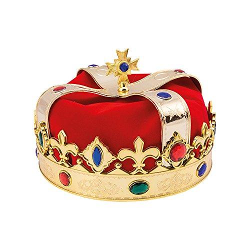 Koakid Kinder Königskrone rot gold König Krone (Krone König Für Kinder)