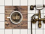 creatisto Fliesenfolie selbstklebend 10x10 cm 3x3 Design Sweet Coffee (Essen & Trinken) Klebefolie Küche Bad
