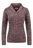 DESIRES Philis Damen Strickpullover Grobstrick Pullover Mit Schalkragen Aus 100% Baumwolle, Größe:XL, Farbe:Wine Red Melange (8985)