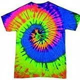 Fonfella Tie Dye Range - T-shirt - - Tie-Dye - Manches courtes Homme, - NEON RAINBOW, XX-Large