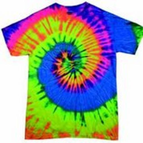 Neon Rainbow Tie Dye (Fonfella Tie Dye RangeHerren T-Shirt, Gebatikt NEON RAINBOW)