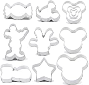 Jasonsy Mouse Cookie Cutters Set-5 pcs-Mouse Head,Ears,Side Face,Hand and Shoes,Cartoon Shape Fondant Baking Molds for Kids-
