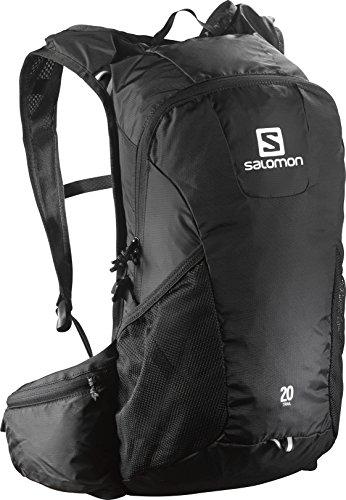 Salomon, TRAIL 20, Zaino Unisex per il running su strada e per l'escursionismo, 20 litri, Blu, L37998700, nero, 20 L