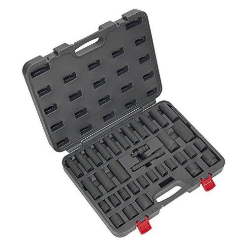 Sq Drive Socket Set (SEALEY ak5634m Impact Socket Set 34Pc 1/5,1cm SQ DRIVE Metrisches)