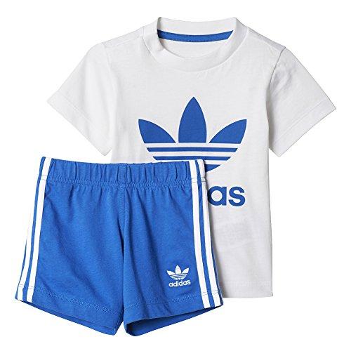 adidas Kinder I Set Trainingsanzug, Weiss (Blanco/Azul), 104