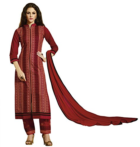 KVSFAB Women's Maroon Pure Cotton Salwar Kameez[707Ph-2]