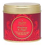 Shearer Candles Cranberry und Ingwer Duft Zinn Kerze, groß rot