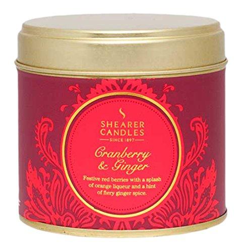 Cranberry-ingwer (Shearer Candles Cranberry und Ingwer Duft Zinn Kerze, groß rot)
