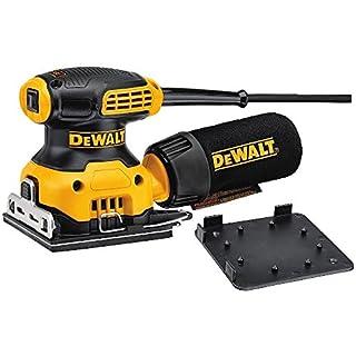 DEWALT DWE6411-GB DWE6411 Sheet Sander, Yellow/Black, 240 V, Set of 3 Pieces