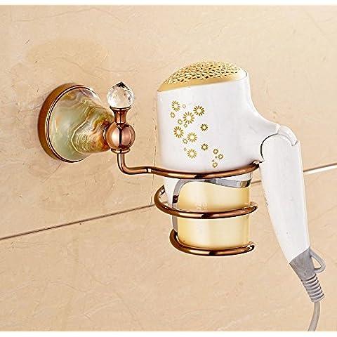 tougmoo diseño creativo Rose Golden polaco pelo seco Soporte estante de baño montado en la pared