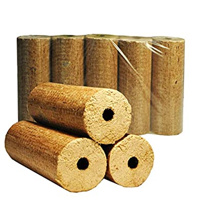 Lekto Hardwood Heat Logs Briquettes 20KG | High Temperature Fast Heating Economical Alternative To Traditional Kiln Dried Fire Wood | Multi Fuel Eco Pack For Log Burners - Open Fires - Wood Burning Stoves & Fire Pits