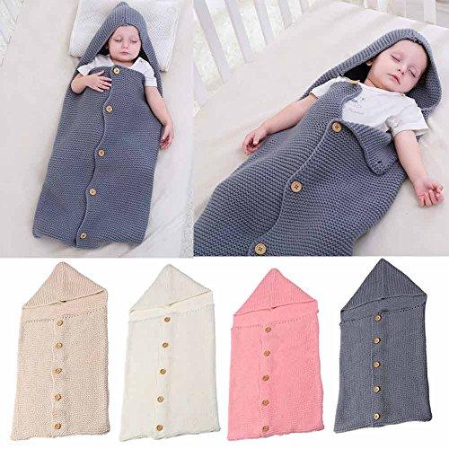 Baby Decke Swaddle Schlafsack Kinder Kleinkind Schlafsack Kinderwagen Wrap (Geeignet für Baby von 0 ~ 8 Monaten) (Rosa)