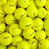 Second Chance Titleist DT Solo Grade A Premium Lake Golf Balls (Pack of 100) - Yellow