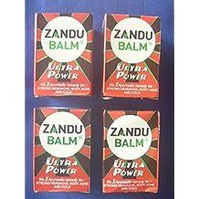 4 X Zandu Balm Ultra Power Balm Multipurpose Solution for Strong Headache Body Ache and Cold