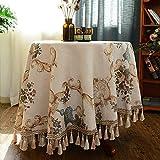 Europäische Runde Tischdecke Kleine Runde Couchtisch Tischdecke Runde Tischdecke Stoff Runde Tischset Startseite Baumwolle Leinen Tischdecke Custom (Farbe : B, größe : 180cm)