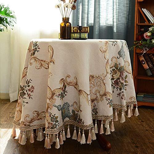 Europäische Runde Tischdecke Kleine Runde Couchtisch Tischdecke Runde Tischdecke Stoff Runde...