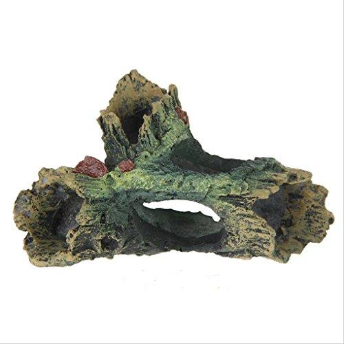 Bobury Acuario Bobury Tank Artesanía de resina Ornament Tronco Driftwood Cueva Decoración Madera Forma