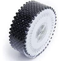 OUNONA Alfileres Cabeza de Perla Alfileres Acero Inoxidable para coser DIY Arte decoración 480 piezas (Negro)