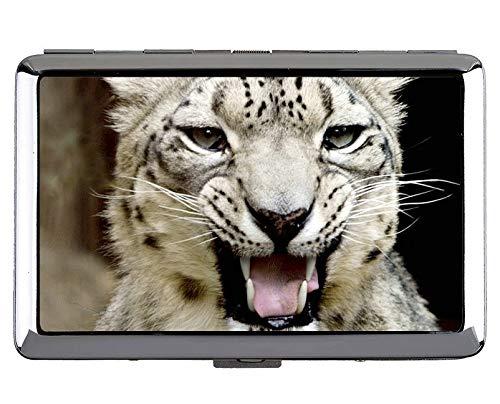 Zigarettenschachtel, Snow Leopard Cat Family Leopard Hard Box und Halter (King - Snow Leopard Kostüm Zubehör