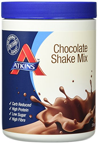 Atkins Chocolate Shake Mix, weniger Kohlenhydrate, 370 Gramm (10 Portionen) -