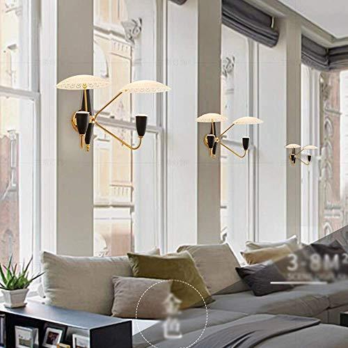 Wandleuchte Wandleuchte Halterung Licht Postmodernen Luxus 2-Licht Wandleuchte Kreative Pfau Glas Lampenschirm Led Wandleuchte Innendekoration Eisen Metall Wand Laterne für Wohnzimmer Schlafzimmer Ho