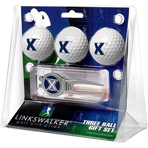 xavier-musketeers-3-ball-golf-gift-pack-with-kool-tool-by-linkswalker