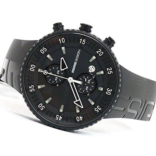 Uhr MOMO DESIGN HERREN md2198bk-11Quarz (Batterie) Stahl Quandrante schwarz Armband Gummiarmband '