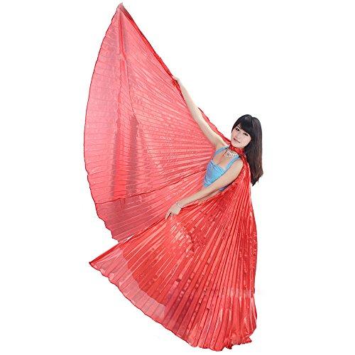 Ukamshop 1PC Ägypten Bauchtanz -Kostüm Flügel Bauchtanz Zubehör Maskenspiel Keine Sticks (Rotes Bauchtanz Kostüm)