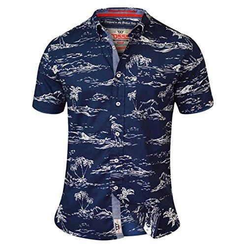 D555 Herren Freizeit-Hemd rot rot Einheitsgröße Gr. 6X-Large, Navy - Blue (Hawaiian Bahama Shirt)