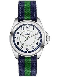 s.Oliver Jungen-Armbanduhr Analog Quarz Textil SO-3132-LQ