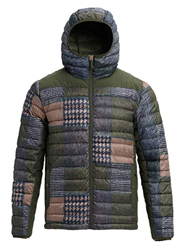 Burton Herren Evergreen Synthetic Hooded Insulator Funktionsjacke, Patchwork/Forst Night, XL Burton Patchwork