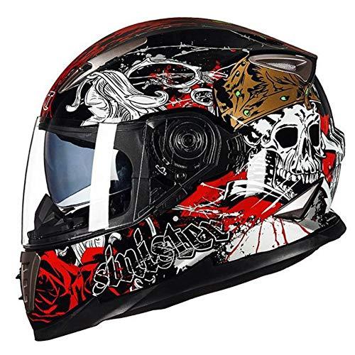 Caschi per motociclisti adulti Locomotiva Doppia lente Protezione integrale Caschi per moto ABS Anti-appannamento Caschi per motocross Casco Moto