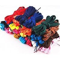 UKCOCO Cordones de Zapato Cordones de Repuesto Cuerdas para Zapatos (Colores Surtidos) - 12 Pares