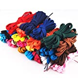 OULII Flat Shoelaces Sports Shoelaces 12 Pairs (Assorted Colors)
