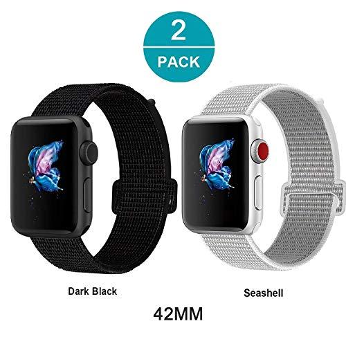 3 Pack-serie (Newseego Watch Armband 42/44 mm (Serie 4), Leichtes, Atmungsaktives Nylon Sport Ersatzarmband für Uhren der Serie 4/3/2/1-2 Pack)