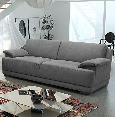 ALESSANDRIA 3er Boxspringsofa 3-Sitzer Sofa Couch Dunkelgrau