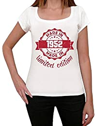 Made in 1952 Limited Edition Femme T-shirt Blanc Cadeau D'anniversaire