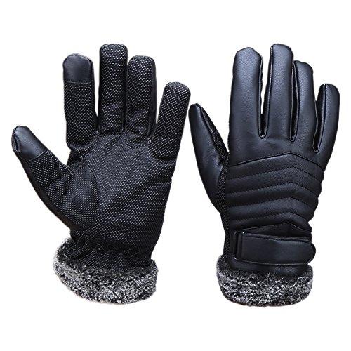 Magic Zone Herren Winter Handschuhe motorradhandschuhe Touch Screen Lederhandschuhe Einsatzhandschuh (Herren-magic-handschuhe)