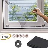 Taylor & Brown Moskitonetz für Fenster, Fliegenfenster, Mückennetz, Mückennetz, 1,3 x 1,5 m, schwarz
