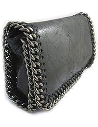 Francinel [N2492] - Sac cuir 'Scarlett' noir glacé (21x11x5 cm)