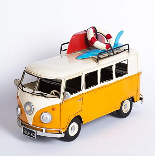 Wmshpeds Amerikanische Landschaft, retro - Old Style, VW-Bus, kreativ, Fensterdekoration, handgefertigten schmiedeeisernen, Dekoration (Solar Retro-bus)