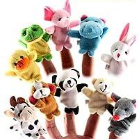 Cestval Animal Finger Puppet Set Toy Juguetes educativos Storytelling Doll 10 Piezas