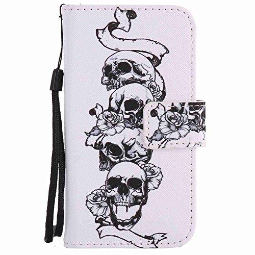 Guran® PU Leder Tasche für iPhone 7 (4.7 Zoll) Smartphone Flip Deckung Stehen Funktion und Karte Slot Case-spitzenblume color1