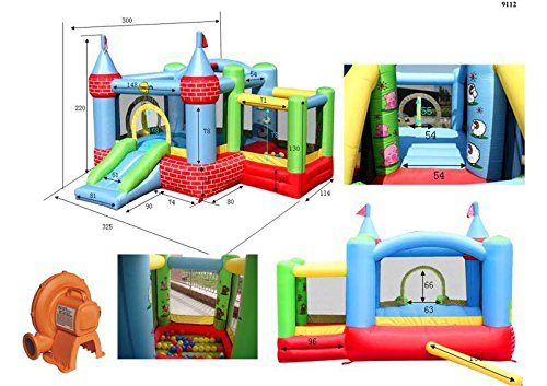 Duplay Inflatable Bouncer With Slide And Ball Pit