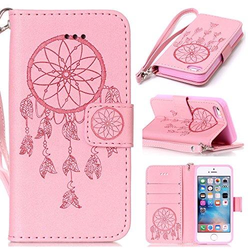 roreikes-apple-iphone-se-5-5s-coque-iphone-se-5-5s-case-dreamcatcher-slim-retro-pu-sac-en-cuir-motif